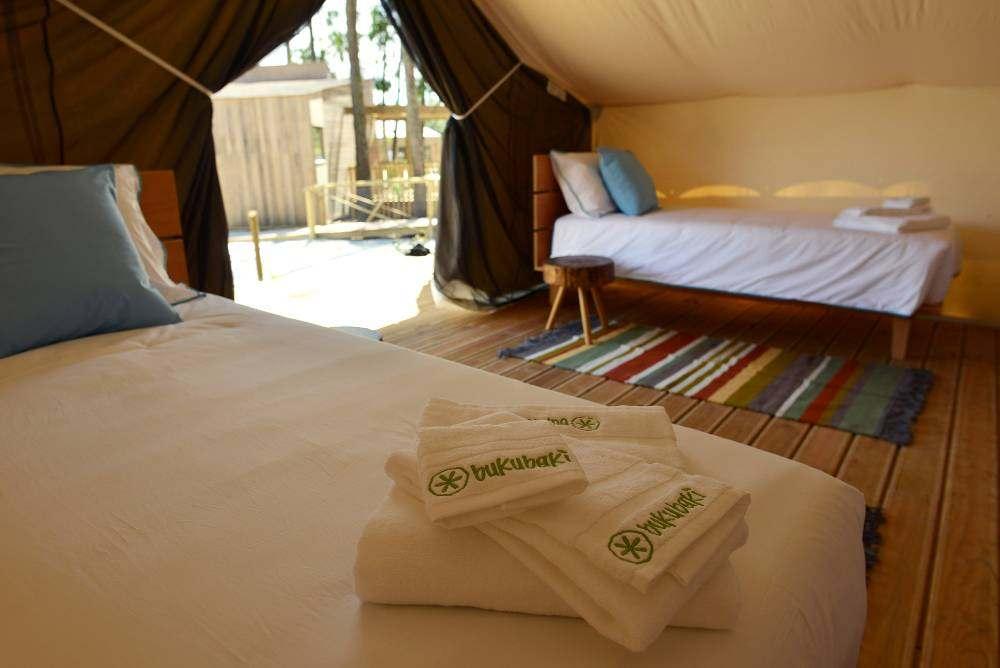 Interior da tenda